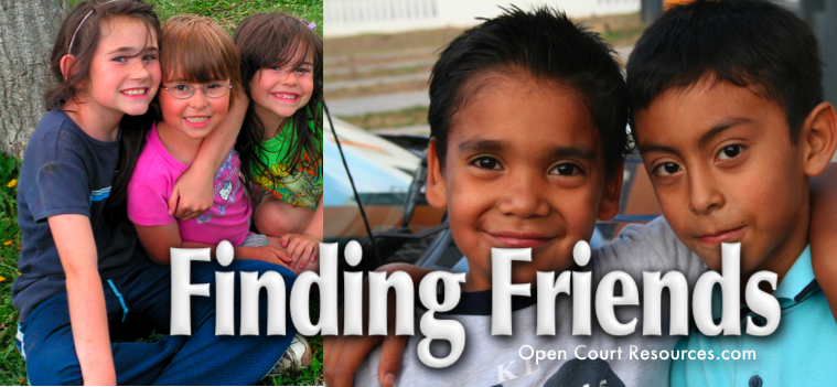 Finding Friends Concept Question Board Banner Small